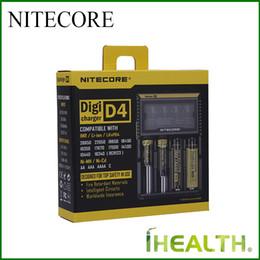 2019 универсальное зарядное устройство nitecore d4 100% оригинал! NITECORE D2 D4 цифровое зарядное устройство универсальный интеллектуальное зарядное устройство для 26650 18350 18500 Li-ion/Ni-MH батареи бесплатно DHL скидка универсальное зарядное устройство nitecore d4