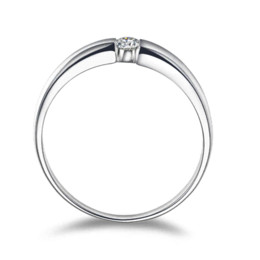 Wholesale Sterling Silver Italian - Free Shiping New Italian Style Brand Jewelry 925 Sterling Silver Cubic Zirconia Classic Ring for Women&Men Engagement J1632