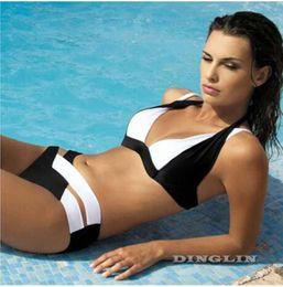 32ce563668 2016 New Women Push Up Hot Sale Sexy Cross Bandage Bikinis Set Padded  Bikini Swimsuit Bathing Suit Beachwear Swimwear