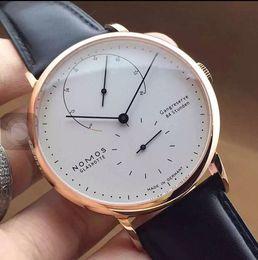 Wholesale Black Mirror Belt - NOMOS Luxury Mens Fashion Watches Quartz Sport Watch PU Leather Belt Glass Mirror Men's Watches High Quality Gifts Wristwatches