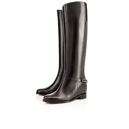 Wholesale High Heels Platform Rose - Rising knee-high Woman boots Cate Boot calf leather red bottom platform heel over-knee-boot winter boots 35-42