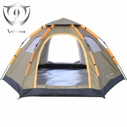 Wholesale Outdoor Pop - Instant Family Tent 6 Person Large Automatic Pop Up Waterproof For Outdoor Sports Camping Hiking Travel Beach Tents Barraca