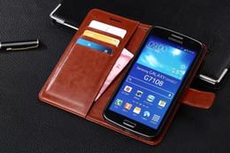 Wholesale Galaxy Grand Cute Cases - For Samsung G7106 Case Cover 2016 Luxury Original Cute Hard Flip Phone Wallet Leather Case For Samsung Galaxy Grand 2 Duos G7106 G7102