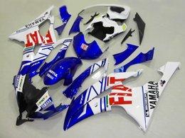 Wholesale R6 Fairing Kit Fiat - Injection Mold Fairing kit for YZFR6 08 09 10 11 12 YZF R6 2008 2009 2010 2012 YZF600 FIAT White blue Fairings set