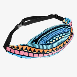 Wholesale Legging Aztec - Wholesale-Aztec 3D Printing fanny pack for women Zohra Fashion New military waist bag Hot running belt drop leg fanny pack tactical pouch