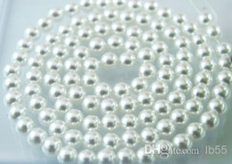 Wholesale 8mm Plastic Pearls - New 1000PCS lot white 8mm Imitation pearls Loose bead white Acrylic Pearl Beads DIY Resin hot Spacer for Jewelry Free Shipping!