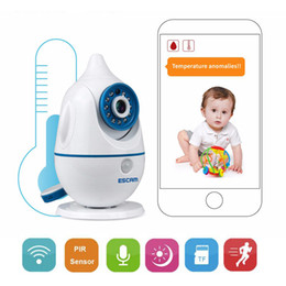 Wholesale Battery Monitor Alarm - Hot Brand Wireless Cute Baby Monitor 720P IP Camera P2P Baby Electronic support Voice Alarm Night Vision for iPhone Android PC