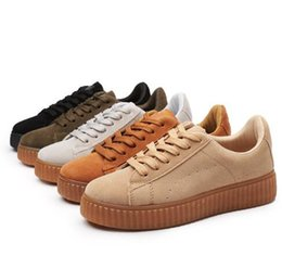 Wholesale Lady Star Toe - 2017 With Shoes Suede Creeper Black Star White Black Women Men Casual Shoes Fashion Ladies Rihanna shoes sneakers women men 36-44