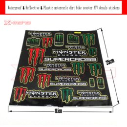 Wholesale Dirt Bike Plastic - Reflective & Waterproof & Plastic Decals Stickers for pit bike dirt bike motorcycle ATV supermoto Cross motorcycle scooter