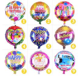 mezcla de globos de aluminio Rebajas Ventas al por mayor de 18 pulgadas Globo de helio Foil Globo de cumpleaños feliz Kids Birthday Party decoración globo mezclado estilo Envío gratis