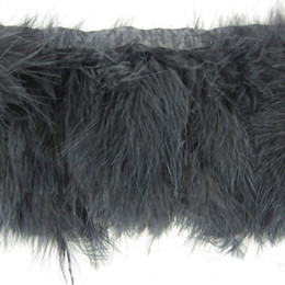 Wholesale Fringe Costumes - 2Yards pcs Black Marabou Feather Trimming Many Color Feather Fringes Marabou Feathers Ribbon Trim Fringe Costumes Party Event Supplie Trims
