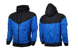 Wholesale Thin Waterproof Fabrics - Free shipping Fall thin windrunner Men Women sportswear high quality waterproof fabric Men sports jacket Fashion zipper hoodie plus size 3XL