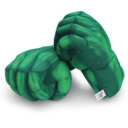 Luva de luva de hulk on-line-Hulk Spiderman Luva De Boxe De Pelúcia De Pelúcia Soco Punho Luvas Quatro Escolha Esquerda Direita Frete Grátis