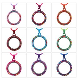Wholesale Memory Locket Twist - Chain Necklace for Women Living Memory Floating Charm Glass Round   Heart Locket Pendant Necklace Gold Floating Locket Necklaces