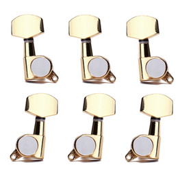 Wholesale Machine Head Guitar Gold - Gold Guitar String Tuning Pegs Keys Tuners Machine Head Keys 3L3R Fit for Acoustic Guitar Parts&Accessories