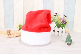 Wholesale Wool Cloth For Children - Promotion Christmas Xmas Wool Caps Santa Claus Hats for Adults Kids Children cap Christmas Gift Decoration Red white color