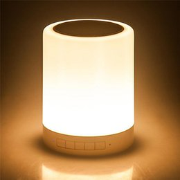 Wholesale Rc Lamp - RC-1035 multifunction wireless LED Bluetooth speakers hands-free dimmable nightlight smart touch mood lamp colorful LED lighting 58-YX