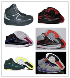 Wholesale Usa Patents - Wholesale New Retro 2s Air Retro 2 Men Basketball Shoes Top AAA Quality Oreo Euro Size 41-47 Usa 8-13 free shipping