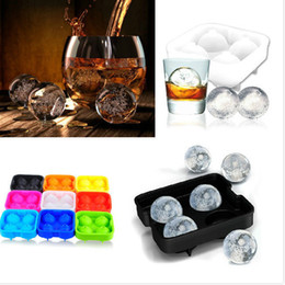 Wholesale Shipping Box Lid - Free shipping Ice hockey silica gel ice cube tray box with lid ice hockey mould ball