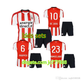 Wholesale Teenage Catsuit Costume - 2017 2018 PSV Eindhoven Kids jerseys H.LOZANO V.GINKEL PEREIRO RAMSELAAR 17 18 set child teens Jersey 10 or more free to send DHL