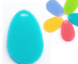 Wholesale Cook Clothing - Silicone Brush Magic Dish Bowl Pot Pan Wash Cleaning Brushes Cooking Tool Cleaner Sponges Scouring Pads Kitchen Accessories