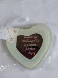 Wholesale Chinese Bamboo Glasses - Wholesale- 50sets lot Capture My Heart Glass Photo Coasters (2 piece set)