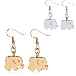 Wholesale Wholesale Chandelier China Earrings - New 19x14mm Alloy elephant Drop Earrings For women ladies Dangle earrings Gold&silver Chandelier Earrings Ear Hook Dangle Fashion Jewelry
