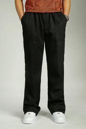 Wholesale Winter Bib Overalls - Autumn Winter Fat Casual Pants Cotton Man Full Long Trousers Big Size Loose Male Overalls Bib Overall Men Trousers 829# XL 3XL 4XL 5XL 6XL