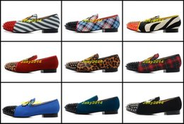 Wholesale Shoes Elegant For Weddings - Classic Elegant Loafers Party Shoes Without Shoelace Spooky Flat For Mens Womens Red Bottoms Spiked Toe Wedding Sneakers Dynodent Spikes