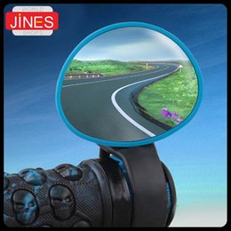 Wholesale Round Convex Mirrors - 1pcs New Fully adjustable Bike Rearview Mirror Round Bicycle Handle Convex bicycle parts Ultra-light Weight Easy to install