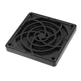 Wholesale Square Filter Case - Wholesale-2016 New Black Plastic Square Dustproof Filter 80mm PC Case Fan Dust Guard Mesh