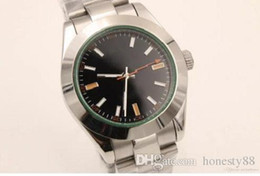 Wholesale Bigger Sizes - Top Quality Wristwatch Automatic Mechanical Black men Christmas gift Stainless Steel bigger size watches for men Green Sapphire 001