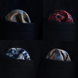 Wholesale Green Silk Handkerchief - Men's business suit pocket towel folding scarves chest towel handkerchief retro pattern wholesale