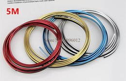 Wholesale Decoration Moulding Strip - 5M Car Interior Moulding Strips Decoration Line Door Dashboard Air Vent Steering-wheel Flexible In Car-styling Auto Accessories