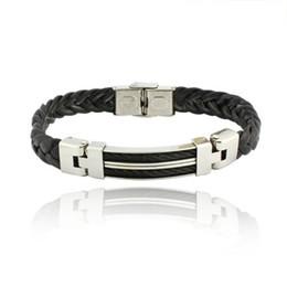 Wholesale Sterling Silver Chains Bracelet Mens - Mens Jewelry rubber bracelet bracelet cheap high-grade titanium BA100617