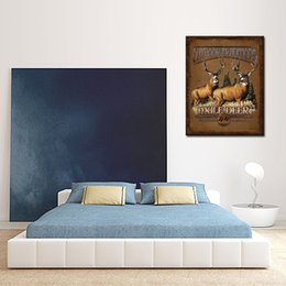 1 Picture Combination Canvas Prints Modern Wall Art Paintings For Room And Kitchen  Decoration,Two Deer Decor Giclee Artwork For Room Decora