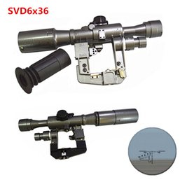 Wholesale Snipers Rifle Scope - Tactical Dragunov Red Illuminated 6x36 SVD First Focal Plane FFP Rangefinding Reticle Rifle Scope Sniper