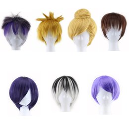 Wholesale Cosplay Naruto Boy - Cartoon Role Diabolik Lovers Tokyo Ghoul Tinker Bell Naruto Cosplay Masquerade Hair Wig Party Show Heat Resistant Synthetic Wigs Hairpieces