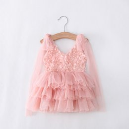 Wholesale Wholesale Kids Dh - [Eleven Story DH] baby Girls summer dress kids wholesale tulle clothes children tutu clothing BS511DS-23