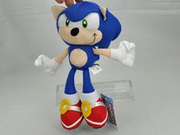 Wholesale Sonic Hedgehog Wholesale - Wholesale-Blue Sonic the Hedgehog Stuffed Animals Plush Toys Soft Doll For Children Retail 1pcs