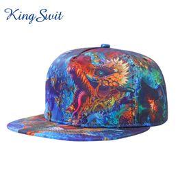 Wholesale Dragon Ball Cap - KingSwit 2016 Top Quality Hip Hop Caps For Men and Women Fashion 3D Dragon Pattern Haps Super Popular Snapback Hat KH029