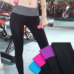 Wholesale Athletics Clothing - WishCart Women Stretched Yoga Running Sport Womens Pants Leggings Gym Athletic Outdoor Skinny Fitness Clothes Sportswear Trousers Tight