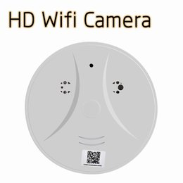 Wholesale Smoke Detectors Hidden Wireless Camera - 1080P HD WiFi Camera Smoke Detector Wireless Hidden Spy Camera Camcorder 140 Degree Wide Angle Motion Detection Home Security CCTV Camera