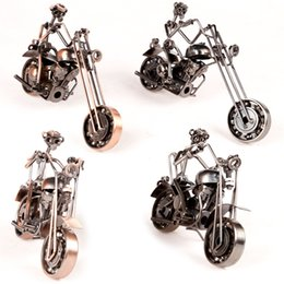 Wholesale Classic Metal Works - Wrought Iron Motorcycle Model Furnishing Articles Classics Office & Home Decoration Gifts M11-1 M12   M12-1 M16   M16-1