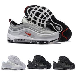 Wholesale Flooring Concrete - Brand New Men Low Air 97 Cushion Breathable Casual Shoes Cheap Massage Running Flat Sneakers Man 97 Sports Outdoor Shoes