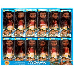 "Wholesale Plush Toy Pack - 6"" Moana Barbie Dolls Classic Moana Pincess Plastic Dolls Action Figure toys for Girls box pack HX-516"