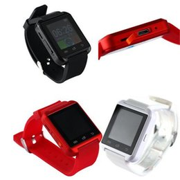 Wholesale Best Smartwatch - Smartwatch U8 Watch Smart Watch Wrist Watches for iPhone 4 4S 5 5S Samsung S4 S5 Note 2 Note 3 HTC Android Phone Smartpho OTH014 2016 best