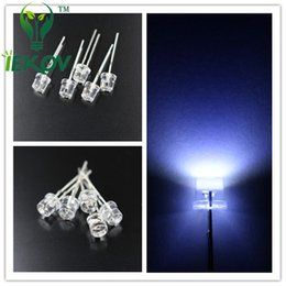 Wholesale 5mm Led White Flat - 5000pcs lot 5MM Flat Top White led Wide Angle 5mm Ultra Bright LEDs light Emitting Diodes Electronic Components High Quality Wholesale