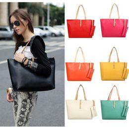 Wholesale interior design shops - Fashion Buckle Simple Women Bag Vintage Ladies Big Lady Bags Design Messenger Shoulder Bags Shopping Handbag Designer Totes F057