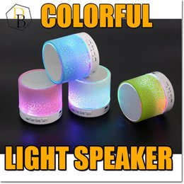 Wholesale Nice Lights - Bluetooth Wireless Speaker Mini A9 Led Light Loudspeaker Support TF AUX FM USB Portable Hand Speaker with Mic Nice Sound Louder Outdoor